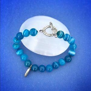Blue Agate Inspire bracelet 🦋